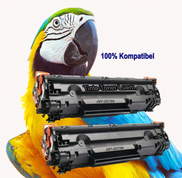 Alternativ XXL für HP CE278A Toner Black Doppelpack